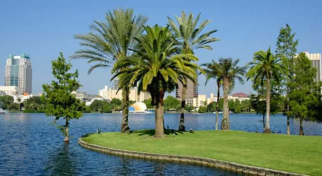 Orlando Airport is located 6 miles (10 km) southeast of Orlando city centre.