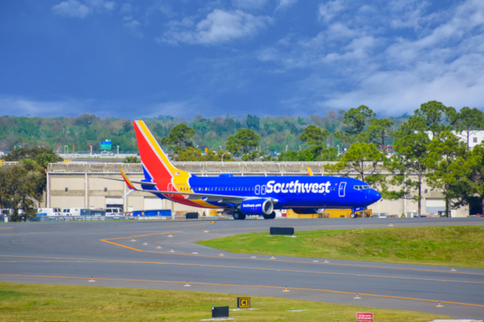 Southwest Airlines is the largest carrier in Orlando Airport.